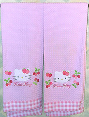 Hello Kitty Strawberry Bath Towels (pkoceres) Tags: pink kitchen japan bathroom strawberry bath hellokitty towel sanrio     boughtonebay  hellokittystrawberry