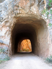 the light at the end of the tunnel (Marlis1) Tags: espaa wow spain tunnel catalunya countryroad elsports mywinners marlis1