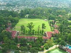 The Main Field from Hyderabad & Kashmir House (shivbirsingh) Tags: 2003 arial doonschool doononline