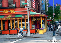 Tex-Mex in NY (Esteban Robledo) Tags: street architecture bars restaurants likeapainting