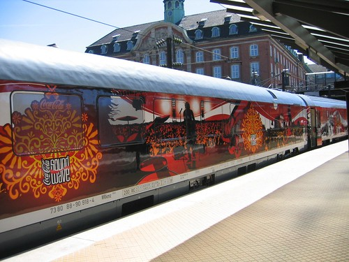 A branded Train in Copenghagen (Denmark)