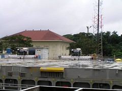 Panama Canal - Gatun Locks (Chris&Steve) Tags: panama transit cruising summit atlantic pacific gatun lock locks gatunlocks celebritysummit canal panamacanal celebritycruises celebrity vessel 10millionphotos cruiseship cruise ship v100i p100i shipping