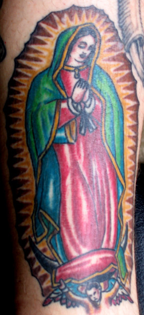 La Virgen de Guadalupe. By Cameron Sweet - Electric Ladyland Tattoo - New