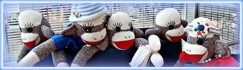 sock monkey blog heading