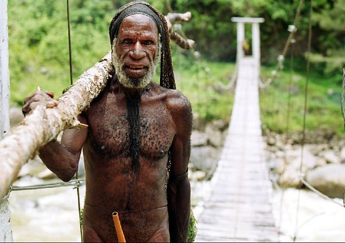 Local Yali Tribeman Baliem Valley - Papua