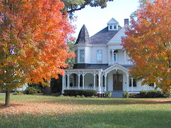 Autumn on Green Street- Historical District-Gainesville GA. (Robert Lz) Tags: fallleaves house gingerbread hallcounty victorina olympusc2100uz greenstreethistoricaldistrictgainesvillega 19thcenturyhomes robertelzey gainesvilleandhallcountygeorgia myfavoriets autumningainesvillegeorgia