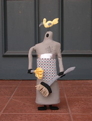 Robot Parade 13: Tidybot by Oh-Dear Inc. (Lizette Greco) Tags: bird illustration children toy toys robot recycled drawing gray plush plushies softie softies greco lizette lizettegreco grecolaborativo