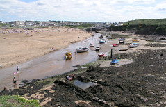 The estuary at Bude, North Cornwall from the breakwater. (Whitesusie) Tags: coast seaside holidays rocks cornwall memories estuary breakwater bude 1on1photooftheday boatsonriver