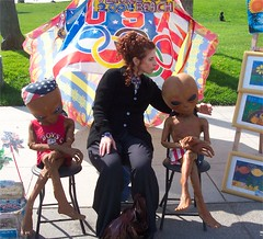 Lois with Grey Aliens (rdengrove) Tags: mitzvah daughters pauls cousin 1004 bnot