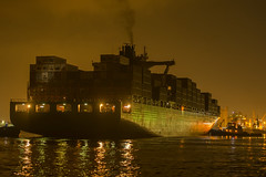 Sealand New York (robertjamesstarling) Tags: sealand new york port everglades container ship water sodium lights mist night sky reflections
