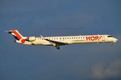 Hop! F-HMLA Canadair CL-600-2E25 Regional Jet CRJ-1000EL cn/19004 @ Kaagbaan EHAM / AMS 06-11-2017 (Nabil Molinari Photography) Tags: hop fhmla canadair cl6002e25 regional jet crj1000el cn19004 kaagbaan eham ams 06112017