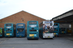 Arriva Southern 1652 KX61LFP - 6420 GN04UEK - 6484 SN15LNR - 6442 GN04UFL - 6421 GN04UEL - 6419 GN04UEJ - 4110 SN17MXJ (Will Swain) Tags: arriva gillingham depot 30th december 2017 bus buses transport travel uk britain vehicle vehicles county country england english south east medway garage yard southern 1652 kx61lfp 6420 gn04uek 6484 sn15lnr 6442 gn04ufl 6421 gn04uel 6419 gn04uej 4110 sn17mxj