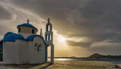 Agios Nikolaos / Perama (HDR) (panos_adgr) Tags: sony a6000 perama attica greece sunset church sea clouds sun horizon landscape