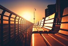 Boardwalk, Long Beach, NY (cr_photo_ny) Tags: boardwalk sunset symmetry longbeach longisland newyork ny ocean beach bench