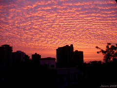 Clouds at sunset (Javiera C) Tags: clouds nubes sunset puestadesol atardecer santiago chile cielo sky silhouette silueta ciudad city cityscape red pink rojo shape