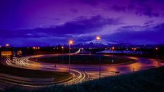 Tutto tondo (Denis Brignone) Tags: sony lungaesposizione scie auto ponte cuneo sera tramonto luci sunset bisalta