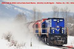 Hz_03_2018_066 (HK 075) Tags: hz hrvatska hk 075 croatia class railway 2062 2044 2063 2041 2132 1141 1142 željeznica yugoslavia balkans rail fanning