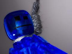 Having the Blues (qp1977) Tags: macromondays theblues olympus macro blue noose hanging nissini40 7dwf