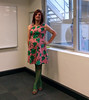 Floral Dress (justplainrachel) Tags: justplainrachel dress frock transvestite cd tv crossdresser pink green floral tights work office nsw australia selfie selfportrait trans tgirl