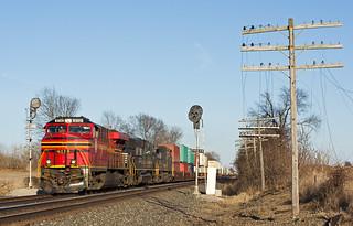 NS 8114, NS Chicago Line, Wawaka, Indiana