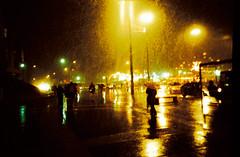 Night (romain@pola620) Tags: lomo lomography lca 100 100iso 35 35mm nuit night availablelight light orange snow pluie neige rain dark darkness shotinthedark paris france analog analogue analogique argentique film pellicule low lowfi vintagecamera vintage noir contrast