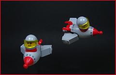 Astro Roulettes (Karf Oohlu) Tags: leo moc scifi rocketship spaceship spaceacrobatics chibi sillyspaceship