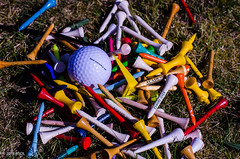 Golfed Today!! (BGDL) Tags: lightroomcc nikond7000 bgdl afsnikkor50mm11 niftyfifty golftees golfball golfing 7daysofshooting week35 commonpractices colourfulthursday