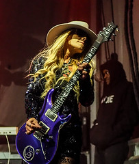 orianthi (gerhil) Tags: music live performance concert rockandroll guitar virtuoso woman girl female rockstar star band rso artist musician portrait dramatic outdoor rockandrollhalloffame pose shred shredding spring april2018