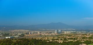 My Hazy OC -The City of Irvine and the Saddleback Mountains