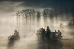 The Misty Mountains. (Bonnie And Clyde Creative Images) Tags: landscapes canon mist mountains sunrise