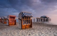 Sand in my Shoes (katrin glaesmann) Tags: timmendorferstrand ostsee schleswigholstein balticsea bayoflübeck lübeckerbucht mikadoteehaus andreasschuberth seeschlösschenbrücke sunrise sleswickholsatia derechtenorden therealnorth beach beachchair strandkorb sand clouds