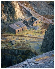 Looking down (SiKenyonImages) Tags: dinorwic quarry llaberis northwales slate disused abandoned goldenhour sunset