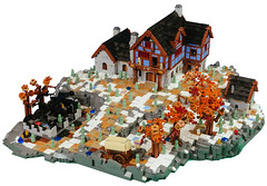 Heroica Snowed Inn 02 (cjedwards47) Tags: lego moc heroica game advancedheroica castle inn zombie zombies snow winter microscale