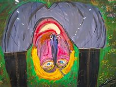 """Sans titre (1994), Ceija Stojka - Exposition """"Une artiste Rom dans le siècle, Ceija Stojka"""", La Maison Rouge, Paris XIIe (Yvette G.) Tags: ceijastojka peintre écrivain poète tsigane rom exposition maisonrouge paris paris12 guerrede3945 secondeguerremondiale nazi ss extermination déportation horreur campdeconcentration génocide porajmos holocauste"""