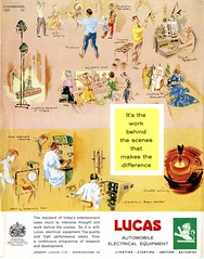 Lucas Advertisement (British Motor Industry Heritage Trust Archive) Tags: lucascollection lucas advertisement socialhistory vintage history theatre arts glyndebourne rsc royalshakespearecompany