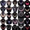 Fashion Crystal Pendant Bib Choker Chain Statement Necklace Earrings Jewelry Set (laplace777) Tags: chain choker crystal fashion necklace pendant statement