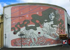 Mermaid by Audrey Kawaski & Tara McPherson (wiredforlego) Tags: graffiti mural streetart urbanart aerosolart publicart powwowhawaii powwow oahu hawaii honolulu taramcpherson audreykawasaki