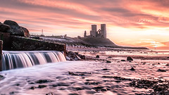 Reculver Towers Sunset! (Nathan J Hammonds) Tags: reculver towers kent uk england coast sea beach water fall sunset sky skies cloud clouds long slow exposure nd filter 10stop bw colour hdr movement nikon d750 sun building seascape landscape