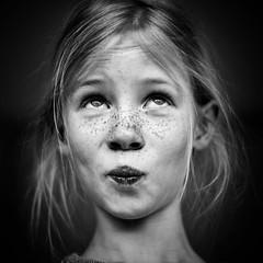 Let's get serious (PascallacsaP) Tags: blackandwhite funnyface freckles lookingup captureonepro portrait monochrome funny face xf35mmf14 fujifilm xpro2 skancheli portraiture bw noir