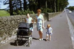 A summers walk in 1964. (Davie Main) Tags: edinburgh frogstonroad frogstonroadedinburgh 1964 evelynmain paulinemain pram joanmcwilliam outforawalk redhead summersday kodachrome asummerswalk summer1964 mains scottishredhead