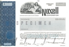 Noxell Corporation Stock Certficate - Front