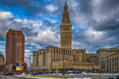 City Sights (tquist24) Tags: cleveland hdr nikon nikond5300 ohio towercitycenter architecture city cityscape clouds downtown geotagged sky skyline skyscraper urban windows unitedstates terminaltower