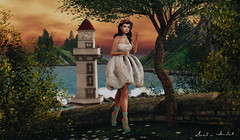 Someday you will be old enough to start reading fairy tales again... (Neda Andel ~SLooK4U Blog) Tags: arcade lighthouse sea ocean wave secondlife sl phedora gacha doux ariskea serenitystyle