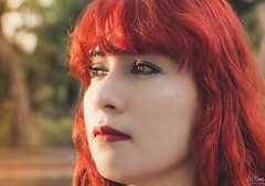 The girl of de red hair (alyzart22) Tags: roja red hair ginger eye eyes girl portrait green retrato pelirroja woods 50mm canon yongnuo tapachula eos1200d