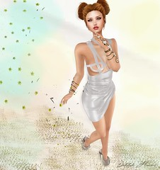 Fragments of a New Season (delilahhannu) Tags: springflair lepunk escalated lemporio ec merlific fashion secondlife blogging bloggingsecondlife jewelry hair shoes