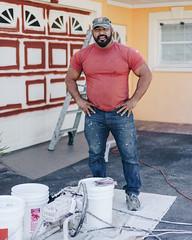 116. (jspic3) Tags: florida people man random painter orange red yellow blue street photo new cool beginner amateur sony a7riii 365 55mm zeiss watching person follow fff lfl like