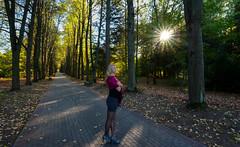 Iris (free3yourmind) Tags: park woods trees sun rays girl model irina path look think minsk belarus