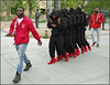 Kappa Alpha Psi at the University of New Mexico. (newmexico51) Tags: man men people unm universityofnewmexico chanting monks marching boots redboots beard barba homme homem hombres albuquerque nm newmexico statues jackets schoolcolors red gregorypeterson kappaalphapsi fraternity