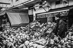 Fruit salad (aliwton) Tags: ifttt 500px street urban travel people candid black white monochrome noir leica hybrid film digital silver gelatin morocco casablanca africa medina fruit man market business sale