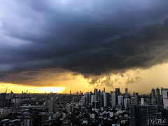 The Approaching Storm (D. R. Hill Photography) Tags: bangkok thailand asia southeastasia city capital urban skyline cityscape storm clouds sky monsoon rain weather sunset octave iphone iphone6 iphoneography mobilephone cellphone snapseed